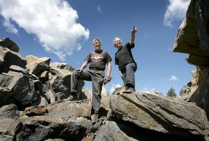 Dagbrott. Roland Jonuks och Jan Andersson har öppnat den första gruvan i Bergslagen på årtionden. Foto:Peter Ohlsson