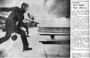 VLT 12 februari 1972. Första spelet kostar två kronor, men då ingår klot och skor.