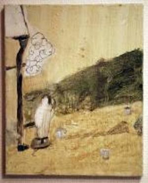 Motiv att känna igen och ändå inte. Hans Lannérs målningar är enkla och samtidigt gåtfulla.Foto: niclas jarlås