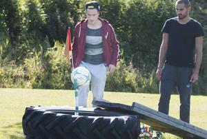 Jamie Hopcutt bjöd på snygg lyftning i däcket för en tvåa.