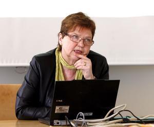 Bekymrad. Rektor Ingegerd Palmér fruktar för Högskolans framtid. FOTO: ULF AXELSON