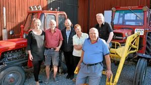 Traktorstaben. Pauline Bergström, Irve Karlsson, Christofer Kärrdahl, Irel Iversen, Kjell-Åke Wijk och Rolf Iversen.