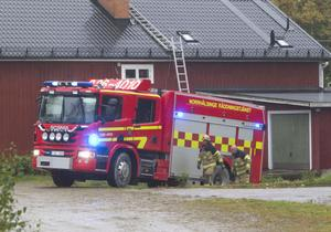 Det krävdes ingen större insats av räddningstjänsten för att släcka branden i flisanläggningen.