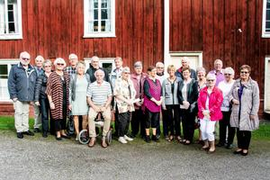 21 personer var med på jubileumsträffen i Nävsta skola, där stämningen var uppsluppen.