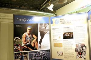 Om Laxå. I utställningen Wall of fame finns en avdelning speciellt för Laxåprofiler inom länsidrotten. Foto: Katarina Hanslep