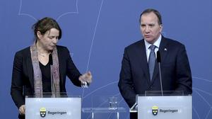 Miljöminister Åsa Romson (MP) och statsminister Stefan Löfven (S).