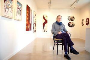 Fram till 16 oktober ställer Agneta Bränngård Lind ut en del av sin textilkonst på Galleri Katten i Strömsund Foto: Jonas Ottosson