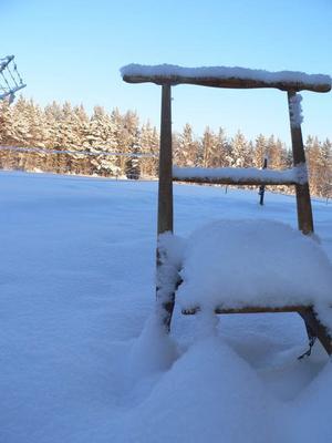 En spark som är övertäckt med nysnö! Foto: Hanna Westfält