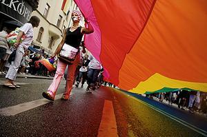 45 000 människor deltog i lördagens Pride-parad.