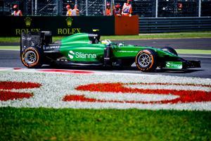 Marcus Ericsson under tidskörning på Monza.