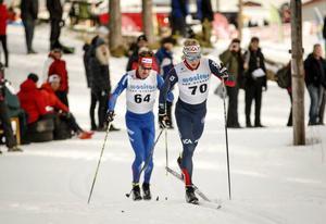 Lars Nelson, här i Åsarnas dress, kör 15 kilometer klassiskt i Ruka.
