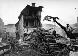 November 1964. Rivningarna är nästan klara i kvarteret Kettil som nu är Sigma.