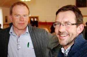Rune Roos, Hammerdal och Torgny Smedby, Frösön, nyvaldes till styrelsen för EFS-föreningen Wilhelmsberg.Foto: Tommy Norin
