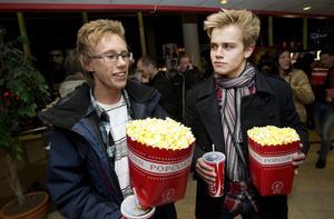 Erik Zetterqvist och Jacob Hedlund såg fram emot en kväll med Hamilton och Persbrandt.