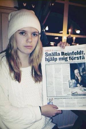 Moa Hansback fick svar från statsministern under fredagen. Han lovade också skicka ett svar till henne.