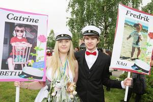 Studentkusinerna Catrine och Fredrik Amundsson.