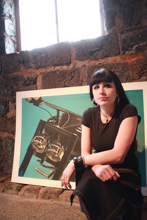 Forskonstnären Pernilla Nyman ställde ut sin utställning