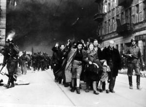 Det judiska gettot i Waszawa töms av nazisterna under andra världskriget
