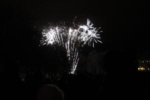 Nyårsfirande vid Lillfjärden.