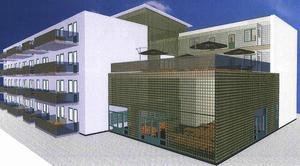 Så här tänker sig företaget bygga bostadshus på Myrantomten i Kolbäck.