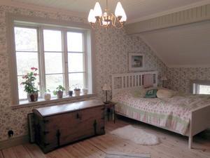 Sovrum med utsikt.