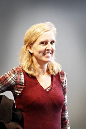 Carita Carter, har själv varit lärare på Perslunda, nu är hon koordinator för hela bygget.