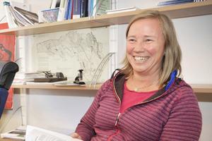 Miljö- och byggchefen Cilla Gauffin konstaterar att Bergs kommun de senaste åren haft en rekordartad utveckling när det gäller antalet bygglov.