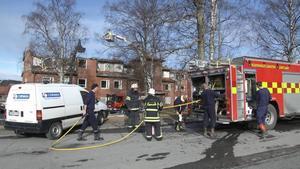 30 personer blev bostadslösa i samband med mordbranden.   Foto: Johan Lindeberg