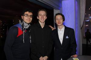 Alkasim Altamimi, Isak Hedlund och Adam Lang Bergendahl.