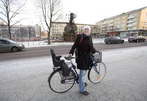 Karin Lingman skickade en bild till en kompis i Uppsala.