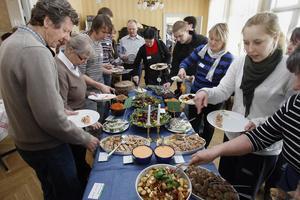 Lunchen som serverades var allt lokalproducerat förutom laxen.