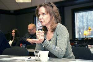 Anneli Qvicker (mp) var en av de politikerna som var på plats under måndagsmötet.