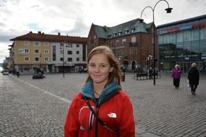 Nora Ängebrant, Domsjö:– Det är inte mycket det men jag är lite rädd för spindlar.