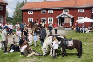 3. Förutom till försäljningen av glass och fika lockade marknadens gästande barn till ponnyridningen.