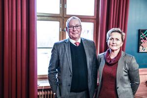 Mittuniversitetets rektor Anders Söderholm och avdelningschef Lena Ivarsson är glada att kunna erbjuda även förskolelärarutbildning vid Campus Östersund.