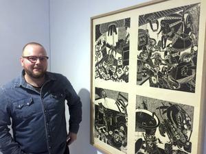 Richard Galloway har en examen från Royal Collage of Art i London, staden han nyligen flyttat ifrån för att bosätta sig i Rog utanför Falun. Just nu visas hans utställning