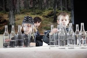 Syskonen Magdalena och Georg af Wåhlberg koncentrerade sig.