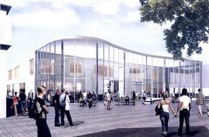 Fint men dyrt, anser Ängabyggens vd Björn Johnson om det inglasade innetorget, som ingår i bygglovet för gallerian på torget.