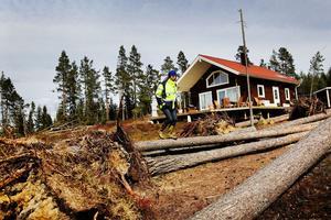 Magnus Wikström är produktionschef på SCA skog men också markägare på Rödön. Hans hus träffades av nedblåsta träd. Nu tänker han se till att det inte finns träd som kan falla över huset igen.