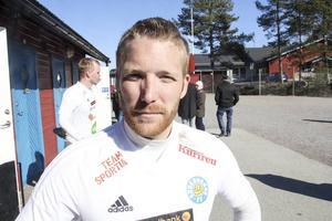 Niklas Holm blev matchhjälte för sitt Söderhamns FF.