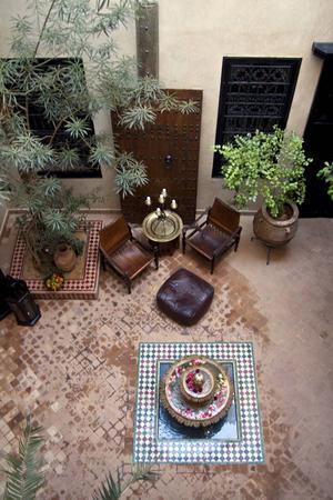 Innergården på Riad Saba i Marrakech.