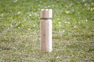 Det är kungen som är slutmålet i kubb, spelet med anor från Gotland.