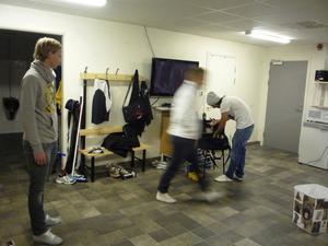 Omklädningsrummet är elitlirarna i Faluns fasta punkt.