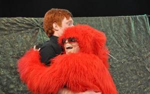 På lurvplaneten fick Marcus krama ett mjukisdjur.
