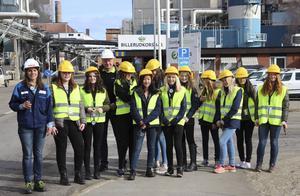 Under en heldag fick tjejer mellan 13 och 19 år komma till BillerudKorsnäs och inspireras av ingenjörsyrket.