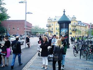 Ansamlingen på Vasagatan.Foto: Mattias Persson