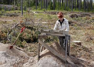 – Jag har alltid velat veta hur det går till när man gör arkeologiska utgrävningar, säger Katarina Hedman från Borgarskolan, som har arkeologi som individuellt val.