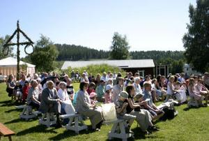 Det var en välbesökt tillställning på Hembygdens dag i Ljustorp.