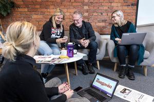 Anna Sundkvist, Lina Lindbäck, Stefan Nolervik och Hanna Thelenius är ÖP Magasins redaktion.