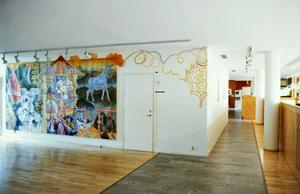 Så här såg Mårtens målning ut när den hängde i entrén till Domänverket i Falun.